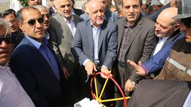 افتتاح خط لوله گاز دامغان کیاسر توسط بیژن زنگنه وزیر نفت