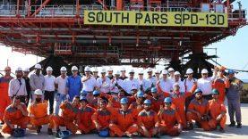 نصب-دومین-سکوی-گازی-فاز-۱۳-پارس-جنوبی-در-آبهای-خلیج-فارس