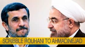 Scribble-Rouhani-to-AhmadiNejad