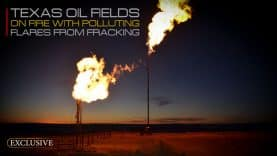 Texas-Oil-Fields-on-Fire-With-Polluting-Flares-From-Fracking
