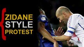Zidane-style-protest