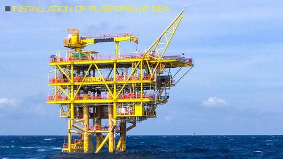 Installation-of-platform-at-sea